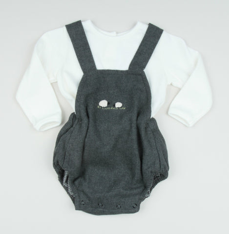 Embroidered Lamb Overall