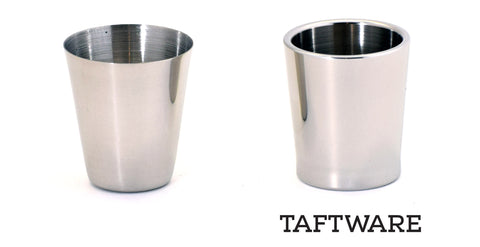 Taftware Stainless Steel Shot Glass Comparison