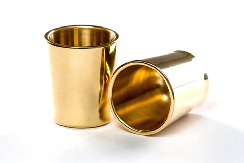 Taftware Brass Metal Shot Glass Set
