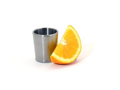 Taftware Brushed Titanium Metal Shot Glass
