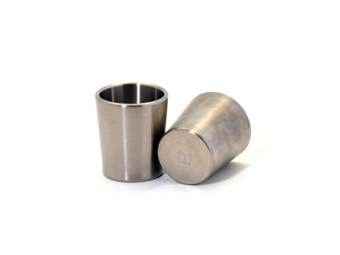 Taftware Brushed Titanium Metal Shot Glass Set