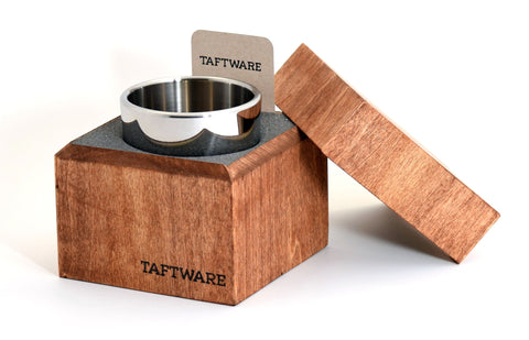 Taftware Polished Stainless Steel Tumbler in Handmade Wood Box
