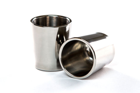 Taftware Stainless Steel Polished Metal Shot Glass Set