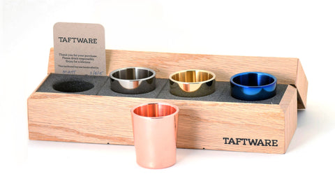 Taftware Gentlemens Shot Glass Set - Copper