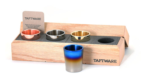 Taftware Gentlemens Shot Glass Set - Signature Titanium