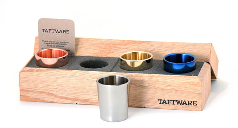 Taftware Gentlemens Shot Glass Set - Stainless Steel