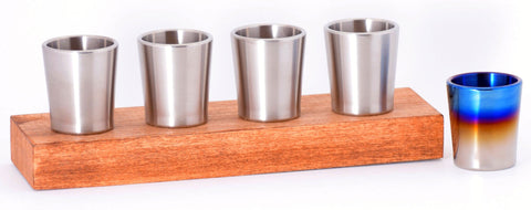 Taftware Groomsmen Titanium Shot Glass Wedding Set