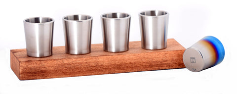 Taftware Groomsmen Titanium Shot Glass Wedding Gift Set