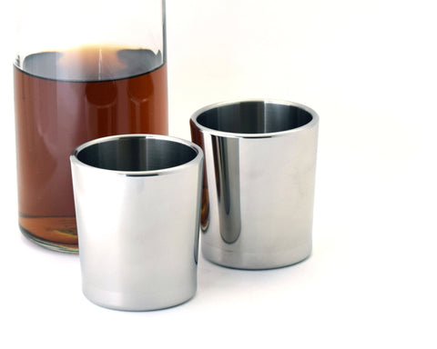 Taftware Stainless Steel Metal Tumbler Set with Whiskey Decanter