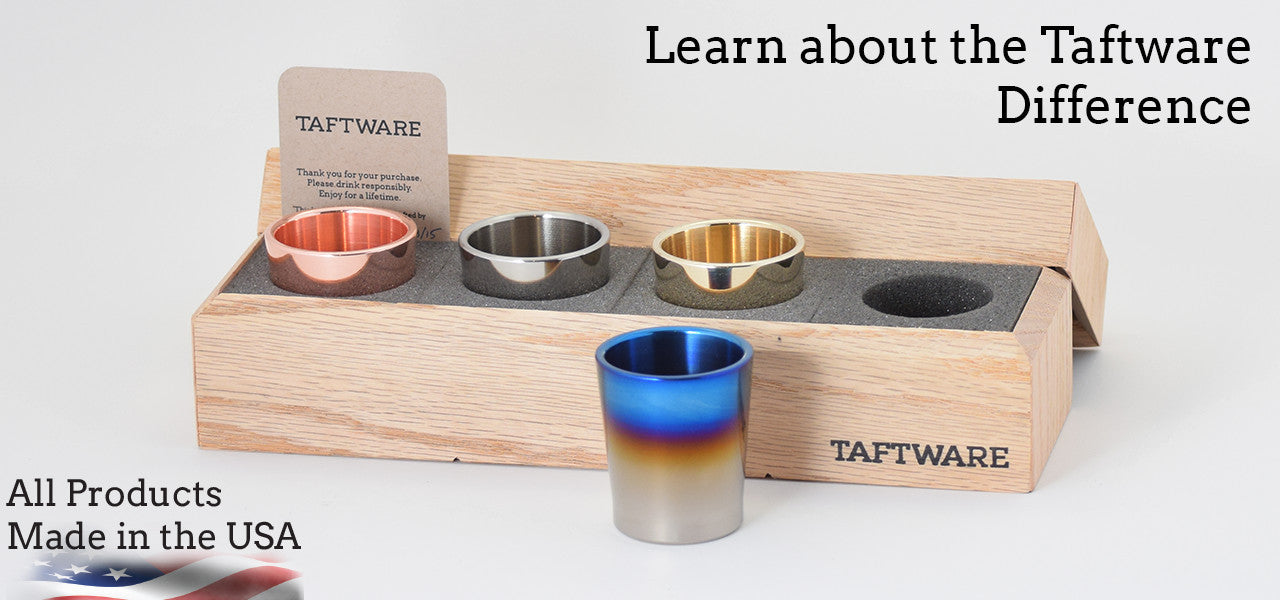 Taftware Difference, Made in America Barware