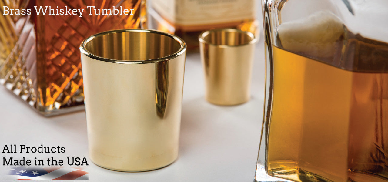 Brass Tumblers Made in USA