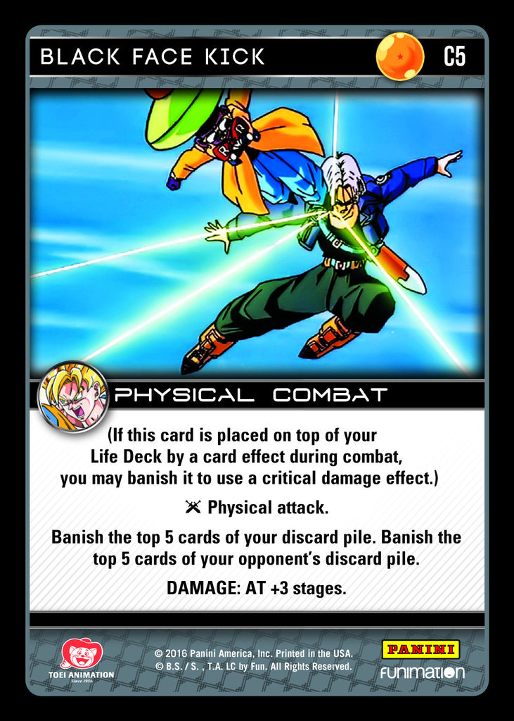 #C005 Black Face Kick (Vengeance) - Foil