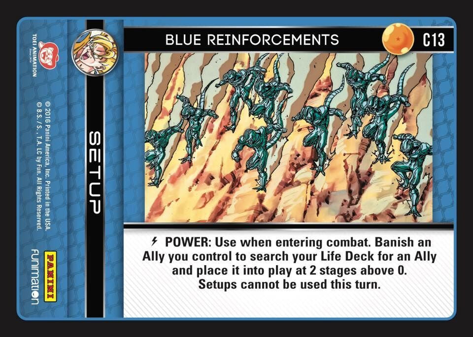 #C013 Blue Reinforcements (Vengeance) - Foil