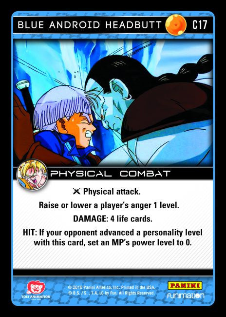 #C017 Blue Android Headbutt (Vengeance) - Foil