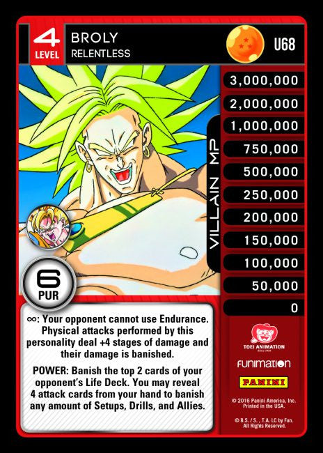 #U068 Broly - Relentless (Vengeance) - Foil