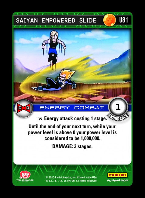 #U081 Saiyan Empowered Slide - Foil (Evolution)