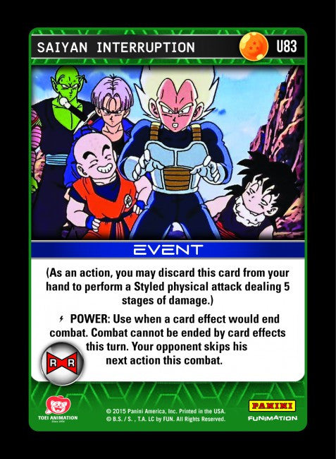 #U083 Saiyan Interruption - Foil (Evolution)