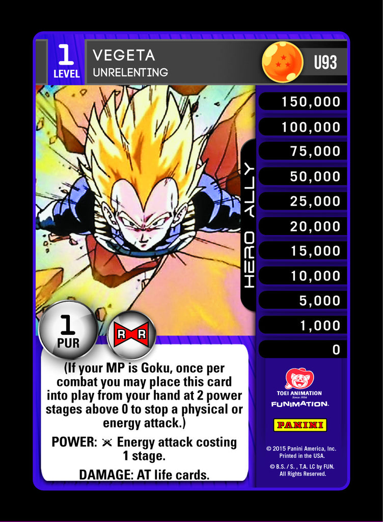 #U093 Vegeta, Unrelenting - Foil (Evolution)
