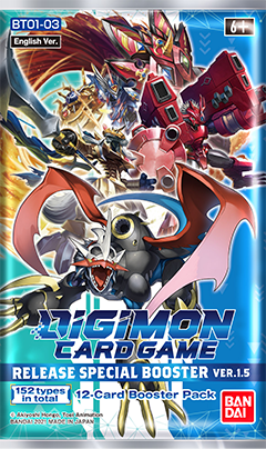 DIGIMON CARD GAME RELEASE SPECIAL BOOSTER Ver.1.5【BT01-03】