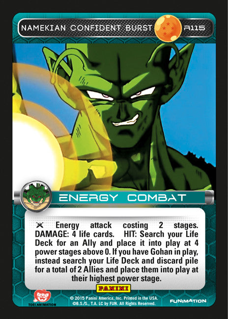 #R115 Namekian Confident Burst - Foil (Heroes and Villains)