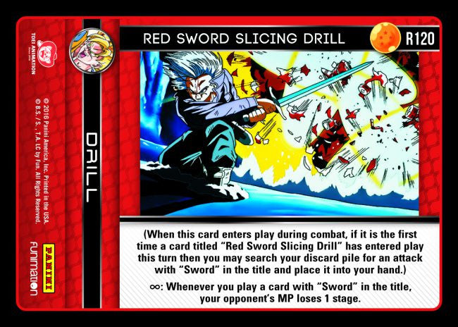 #R120 Red Sword Slicing Drill (Vengeance)
