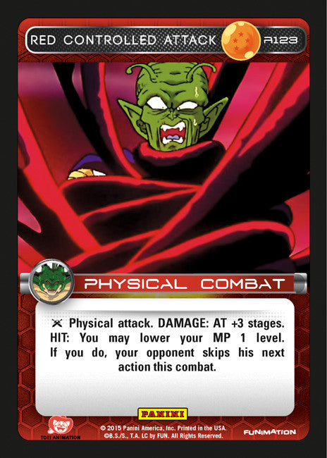 #R123 Red Controlled Attack (Heroes and Villains)