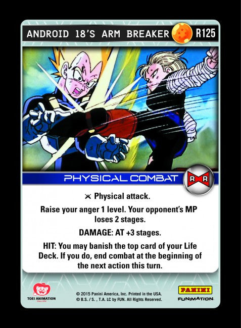 #R125 Android 18's Arm Breaker (Evolution)