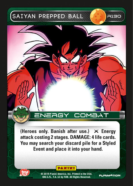 #R130 Saiyan Prepped Ball - Foil (Heroes and Villains)
