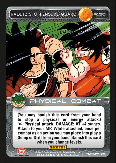 #R138 Raditz's Offensive Guard (Heroes and Villains)