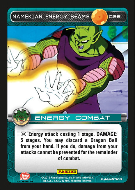 #C035 Namekian Energy Beams (Heroes and Villains)