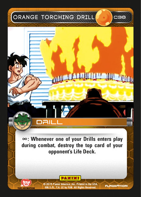 #C038 Orange Torching Drill (Heroes and Villains)