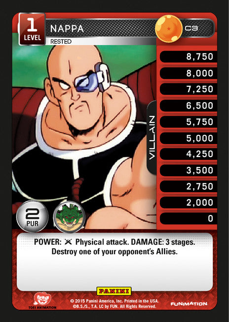 #C003 Nappa - Rested (Heroes and Villains)