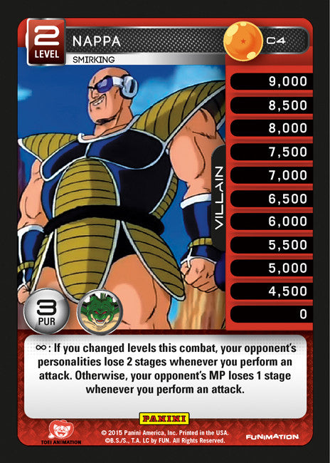 #C004 Nappa - Smirking - Foil (Heroes and Villains)