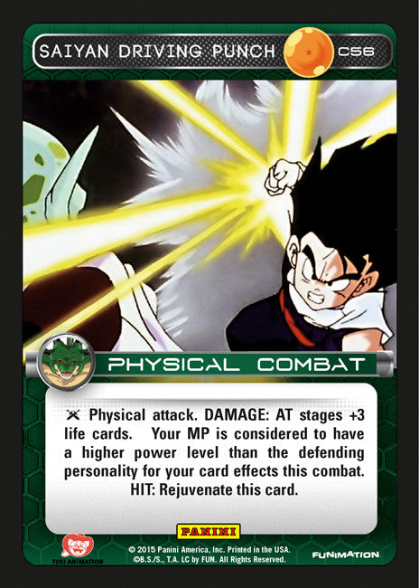 #C056 Saiyan Driving Punch - Foil (Heroes and Villains)