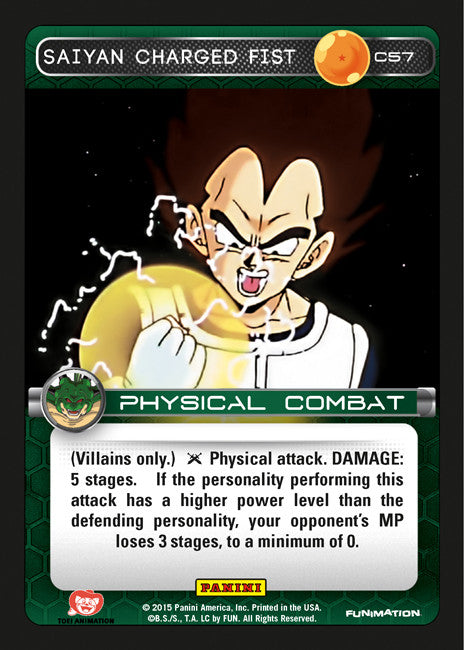 #C057 Saiyan Charged Fist - Foil (Heroes and Villains)