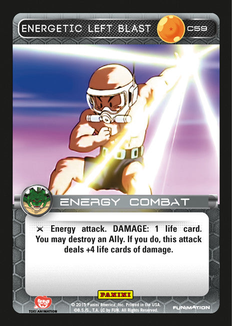 #C059 Energetic Left Blast - Foil (Heroes and Villains)