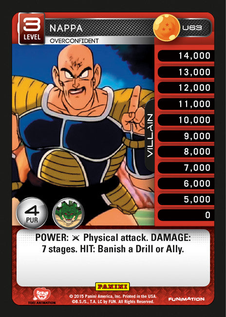 #U063 Nappa - Overconfident (Heroes and Villains)