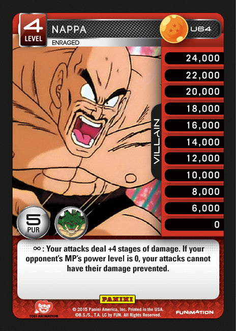 #U064 Nappa - Enraged - Foil (Heroes and Villains)