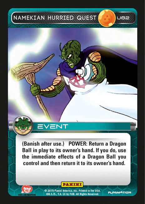 #U082 Namekian Hurried Quest - Foil (Heroes and Villains)