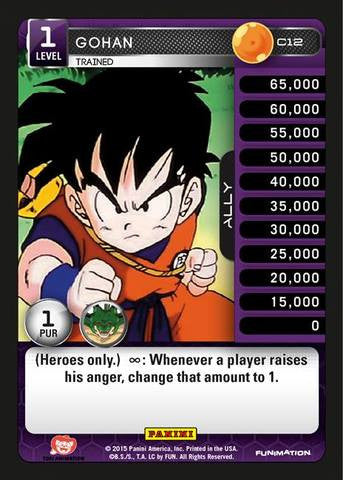 #C012 Gohan - Trained - Foil (Heroes and Villains)
