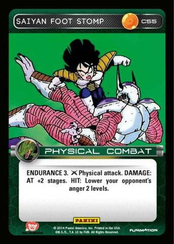 #C055 Saiyan Foot Stomp - Foil (Premiere Set)
