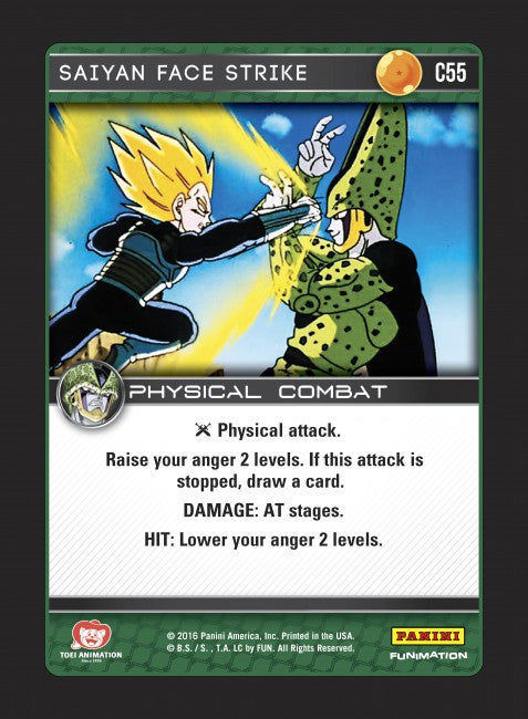 #C055 Saiyan Face Strike (Perfection) - Foil