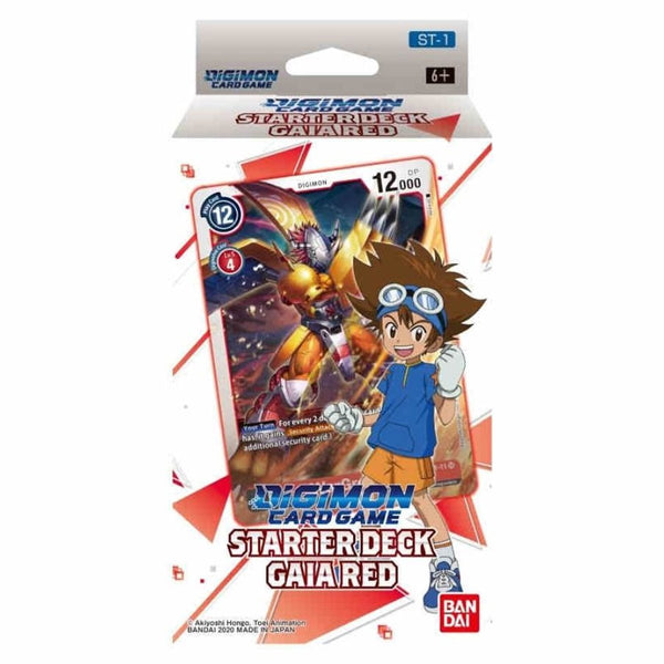 DIGIMON CARD GAME, Starter Deck, GAIA RED【ST-1】