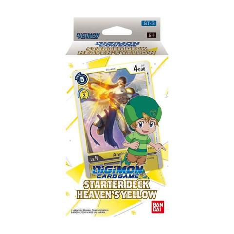 DIGIMON CARD GAME, Starter Deck, HEAVEN'S YELLOW【ST-3】