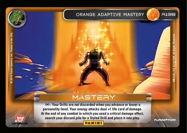 #R136 Orange Adaptive Mastery - Foil (Premiere Set)