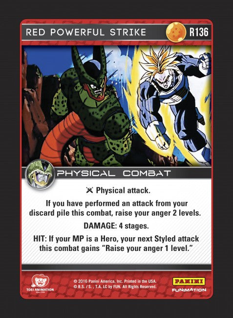#R136 Red Powerful Strike (Perfection) - Foil