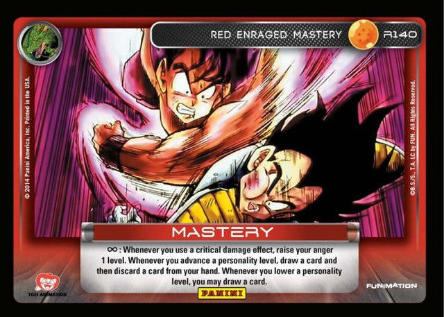 #S027 Red Enraged Mastery - Rainbow Prism Foil (Premiere Set)