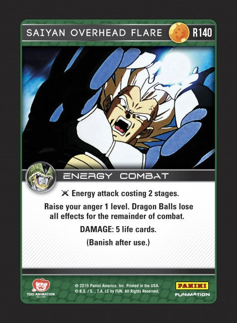 #R140 Saiyan Overhead Flare (Perfection) - Foil
