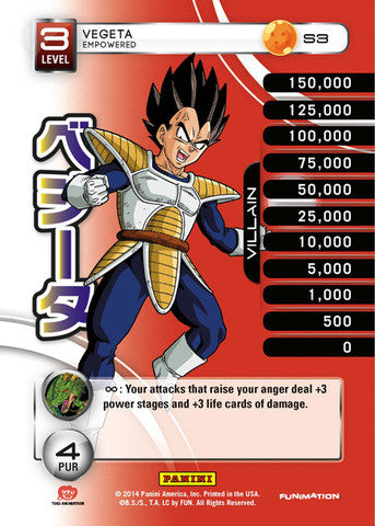 #S003 Vegeta - Empowered - High Tech Foil (Premiere Set)