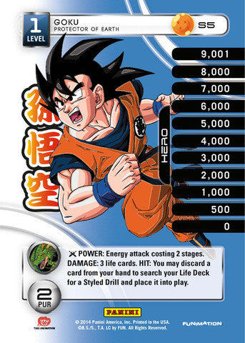#S005 Goku - Protector of Earth - High Tech Foil (Premiere Set)
